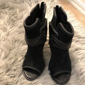 Sam Edelman Circus leather and suede booties